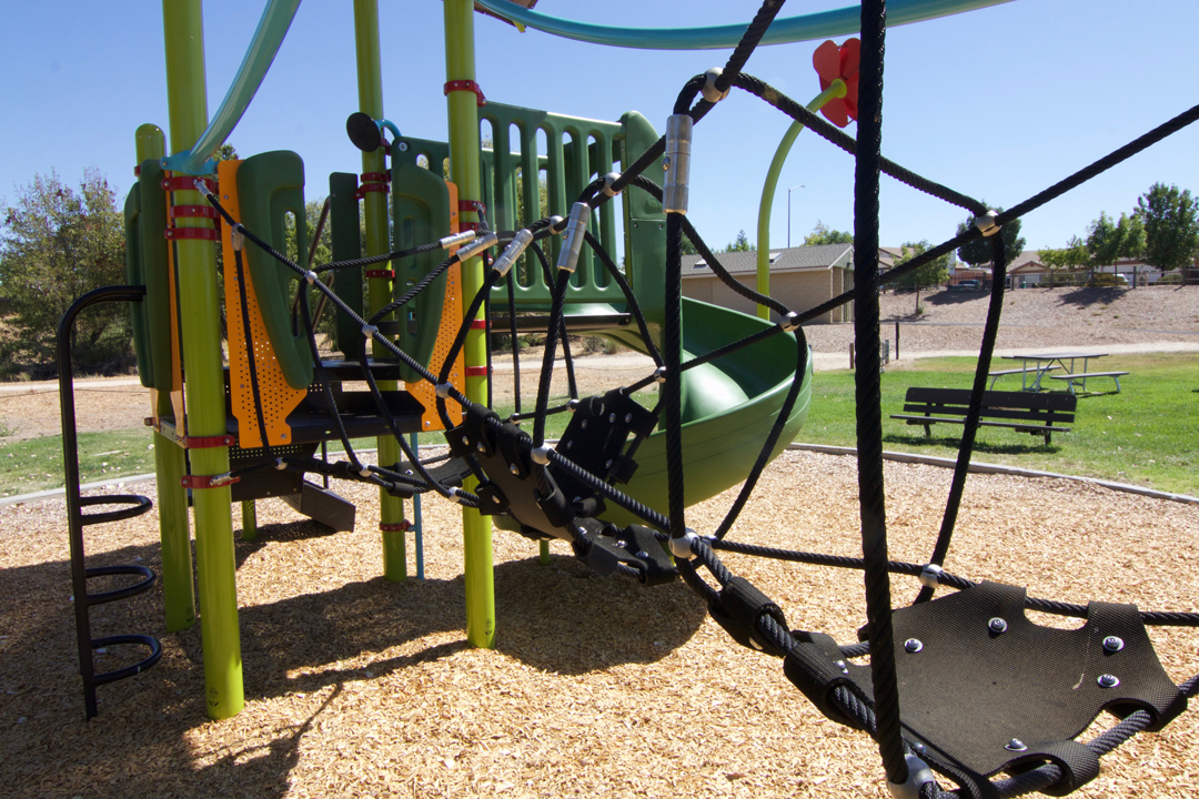 Play equipment at Larry Moore Park